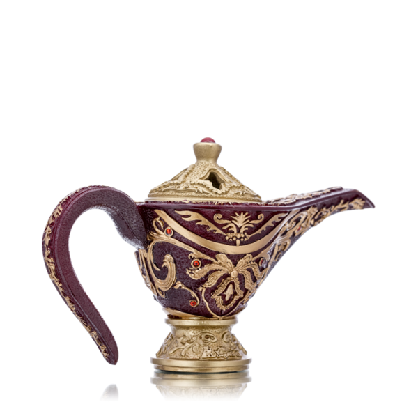 Bakhoor Burner Aladdin Genie Shaped in Maroon Color